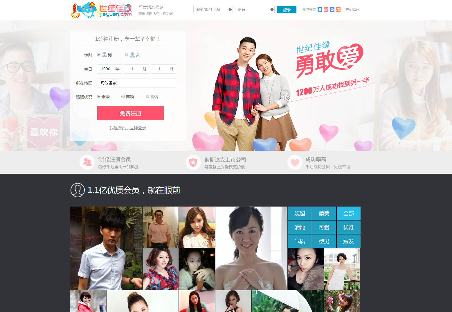 Jiayuan.com is one of the most popular online dating websites in China with over 120 million members. New government regulations will prevent users from registering fake accounts and swindling other users out of money