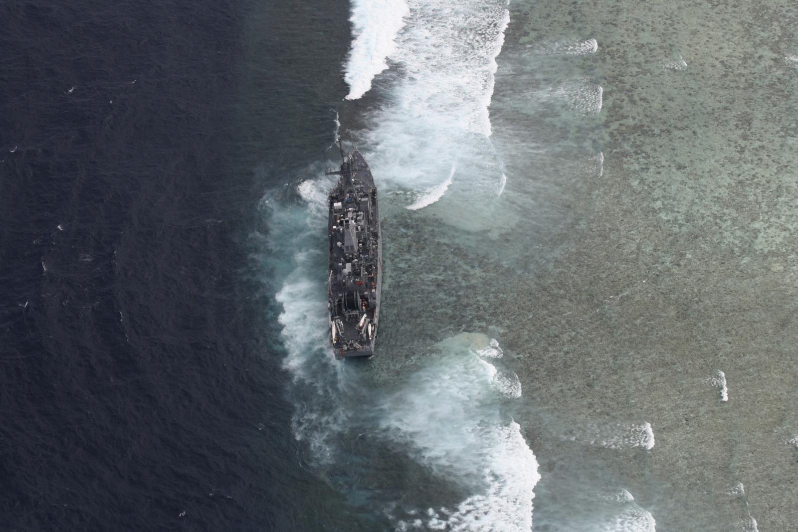 USS GuardianTubbataha Reef