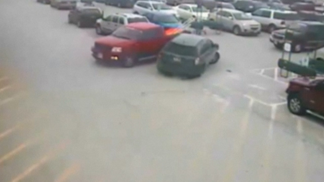 One elderly driver manages to crash in to 10 cars