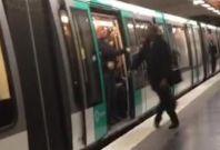 Chelsea fans Paris metro