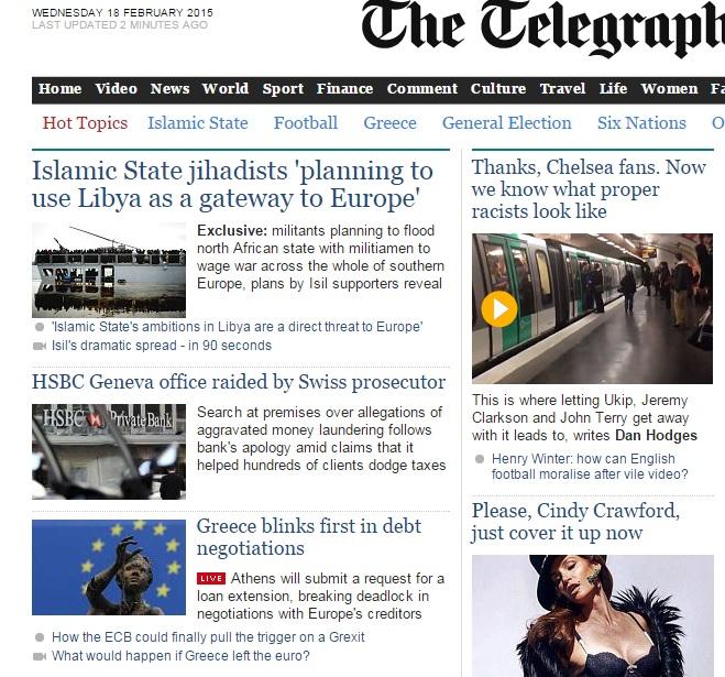 Telegraph HSBC