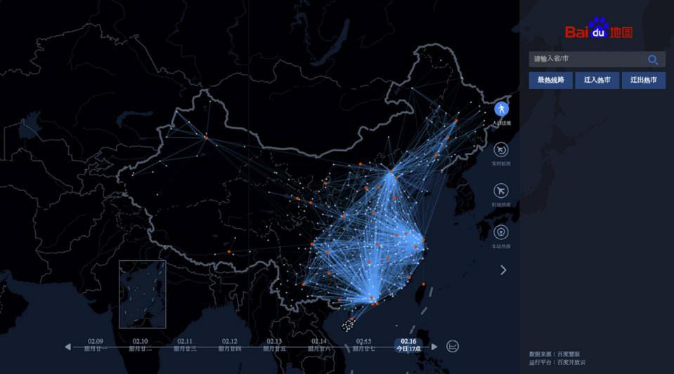 Baidu China map