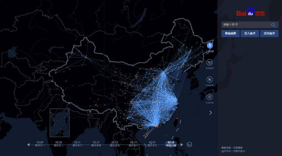 Baidu China map