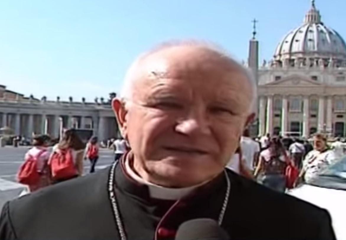 The Catholic bishop of Tripoli Father Giovanni Innocenzo Martinelli