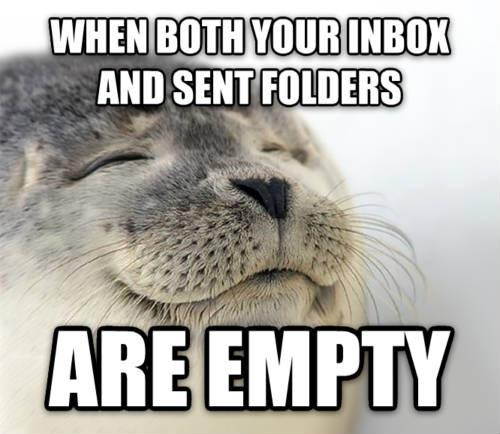 When your inbox is empty