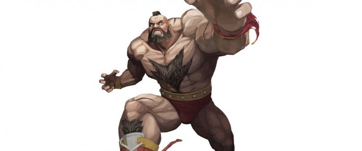 Zangief Street Fighter Beard Hair