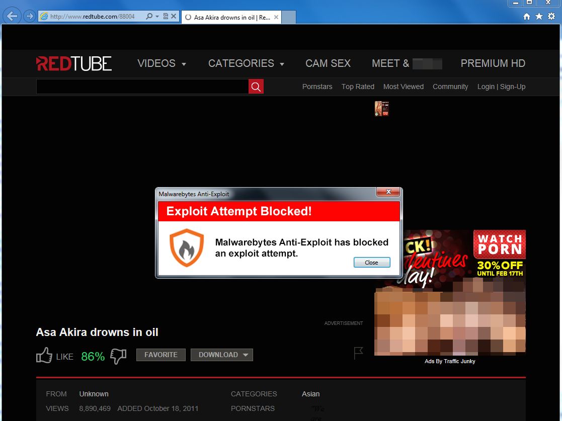 RedTube hacked to deliver malware to visitors