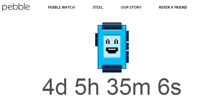 Pebble watch countdown