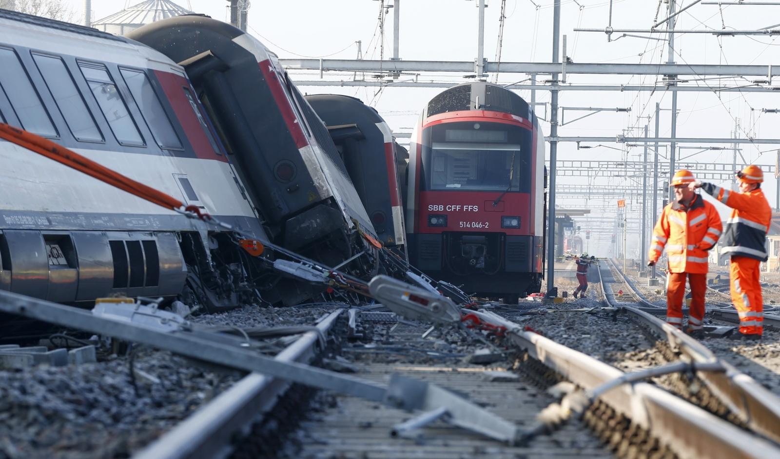 Rafz train crash Switzerland