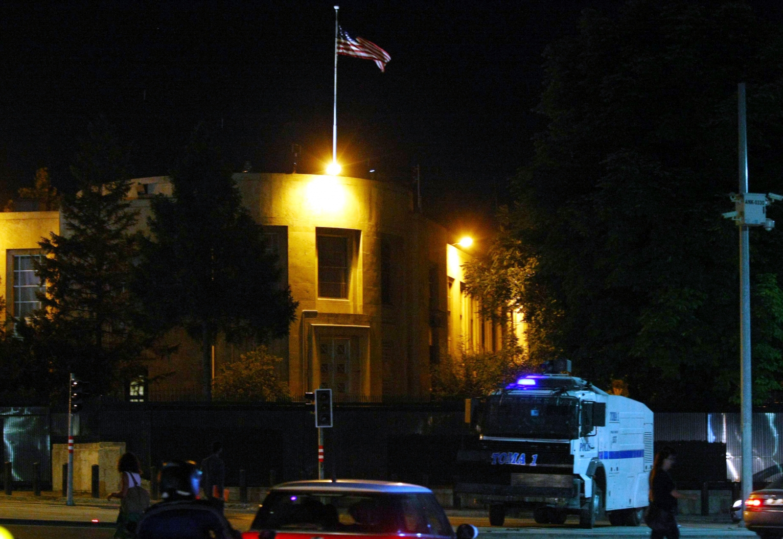 The US embassy in Ankara, Turkey, a possible target for Isis militants who have crossed the border from Syria. (Getty)