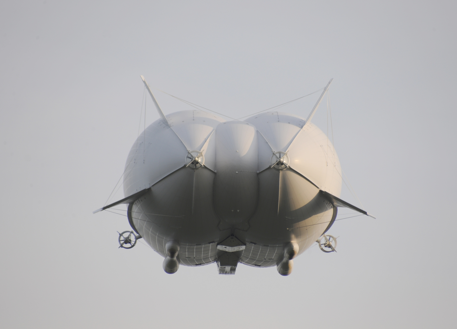 This is the back of the Airlander 10, which has been compared by some media outlets to Kim Kardashian's derrière