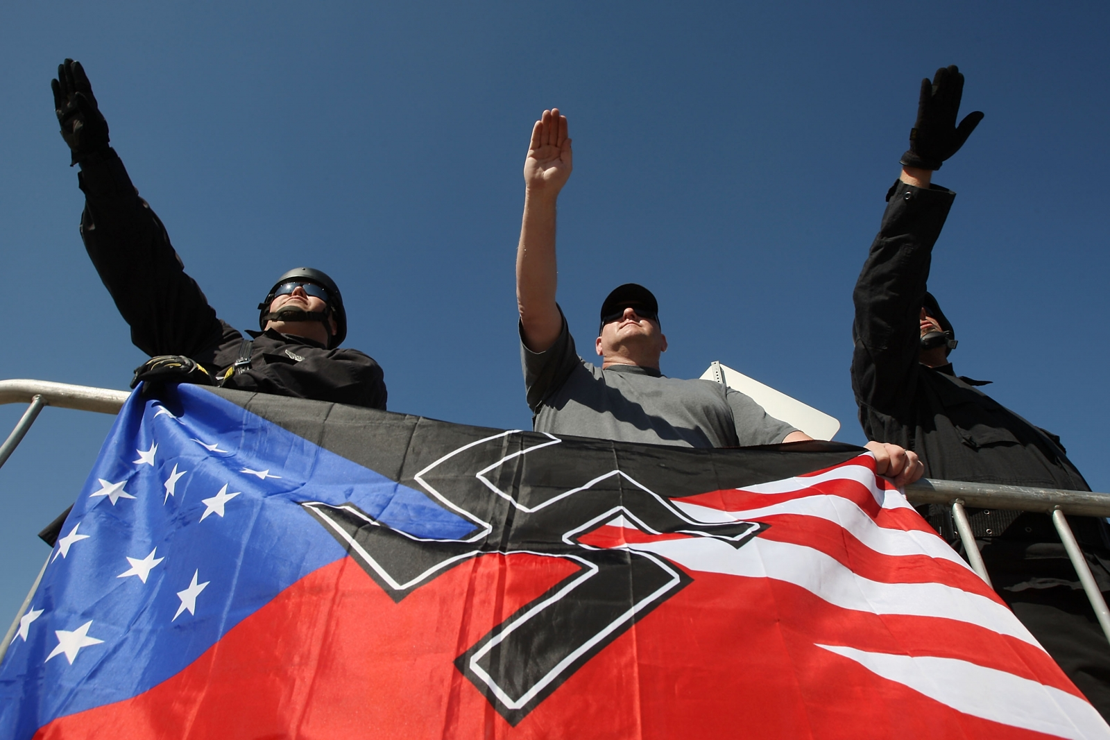 US skinheads at a 2010 rally in LA. (Getty)