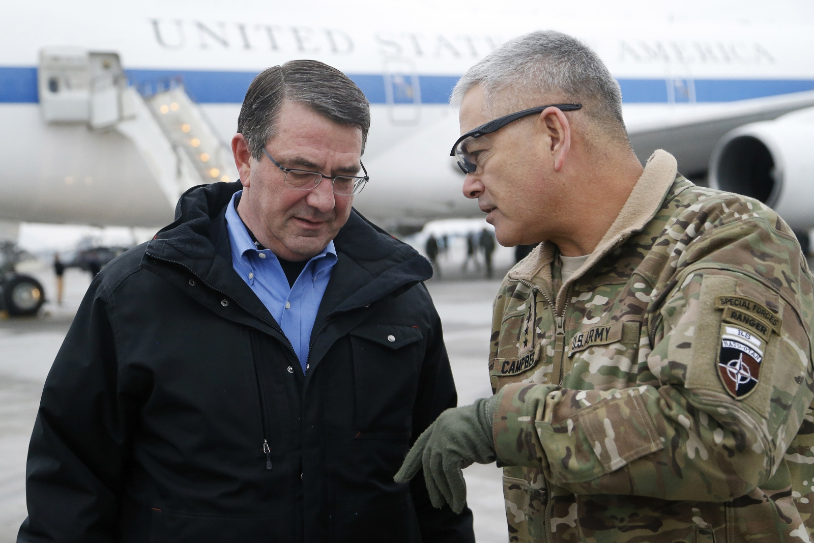 US defence chief in Afghanistan
