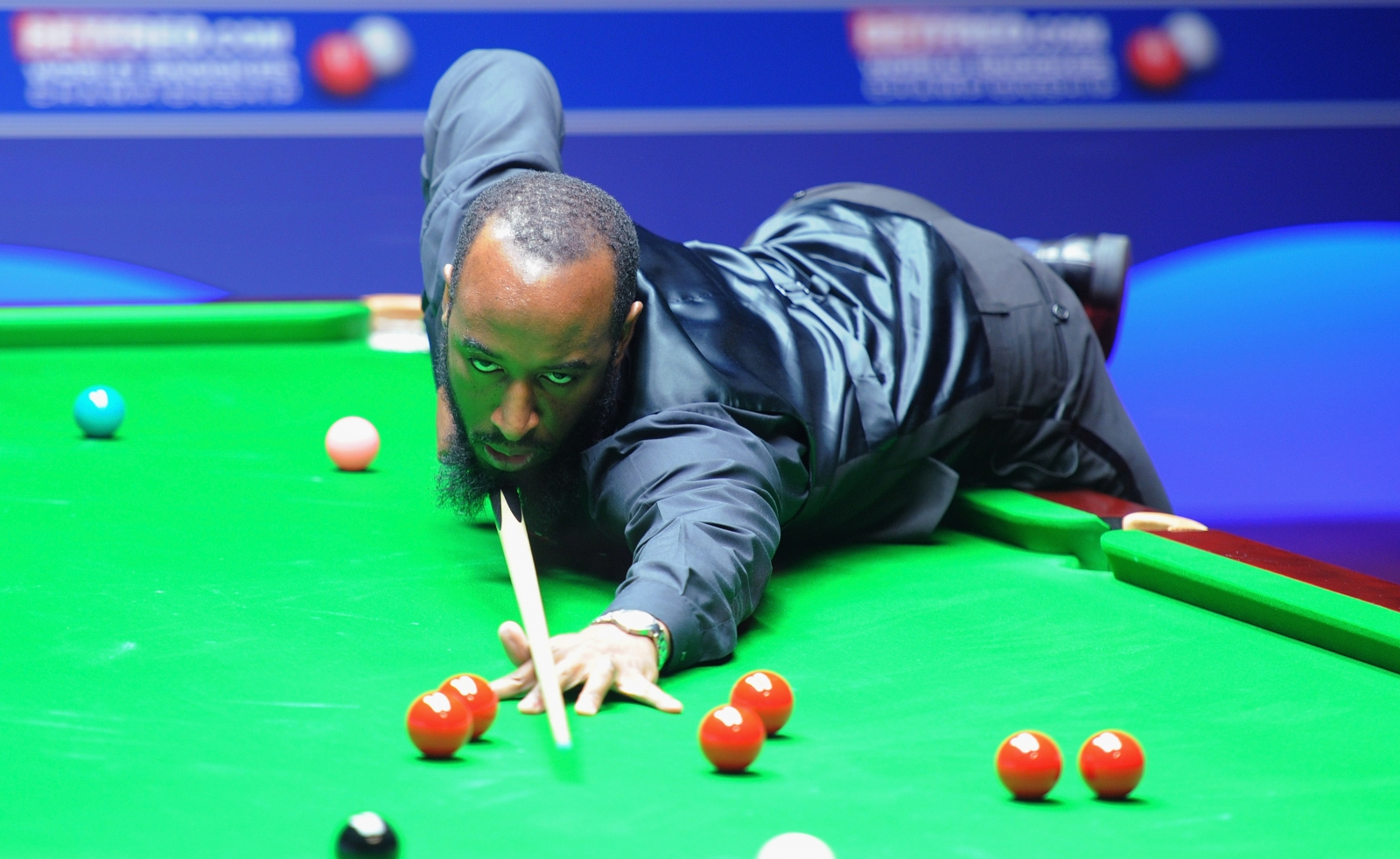 Rory McLeod of England plays a shot during his round two game on day ten of the Betfred.com World Snooker Championship at the Crucible Theatre on April 25, 2011 in Sheffield, England.