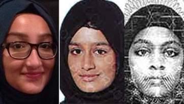 Kadiza Sultana, 16, Shamima Begum, 15, and Amira Abase, 15