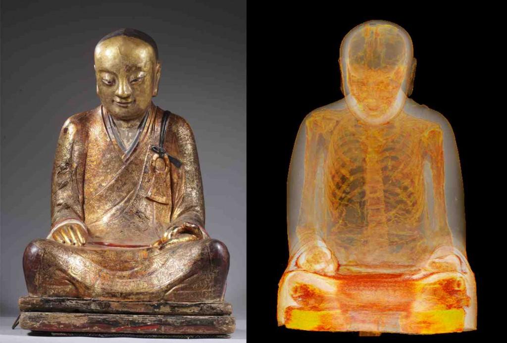 Scan reveals mummified Buddhist master in Chinese statue