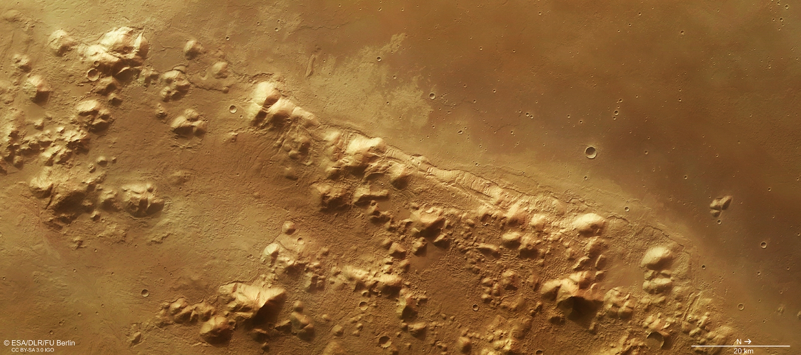 Mars' mountain range could be sitting on massive ice ...
