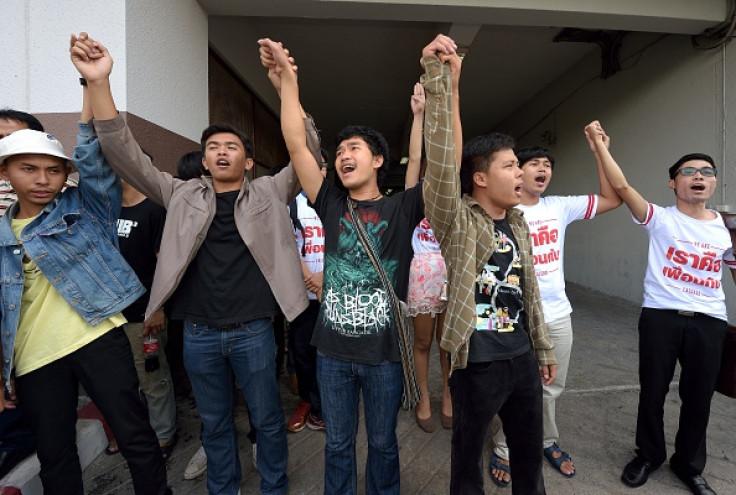 Thai student protest