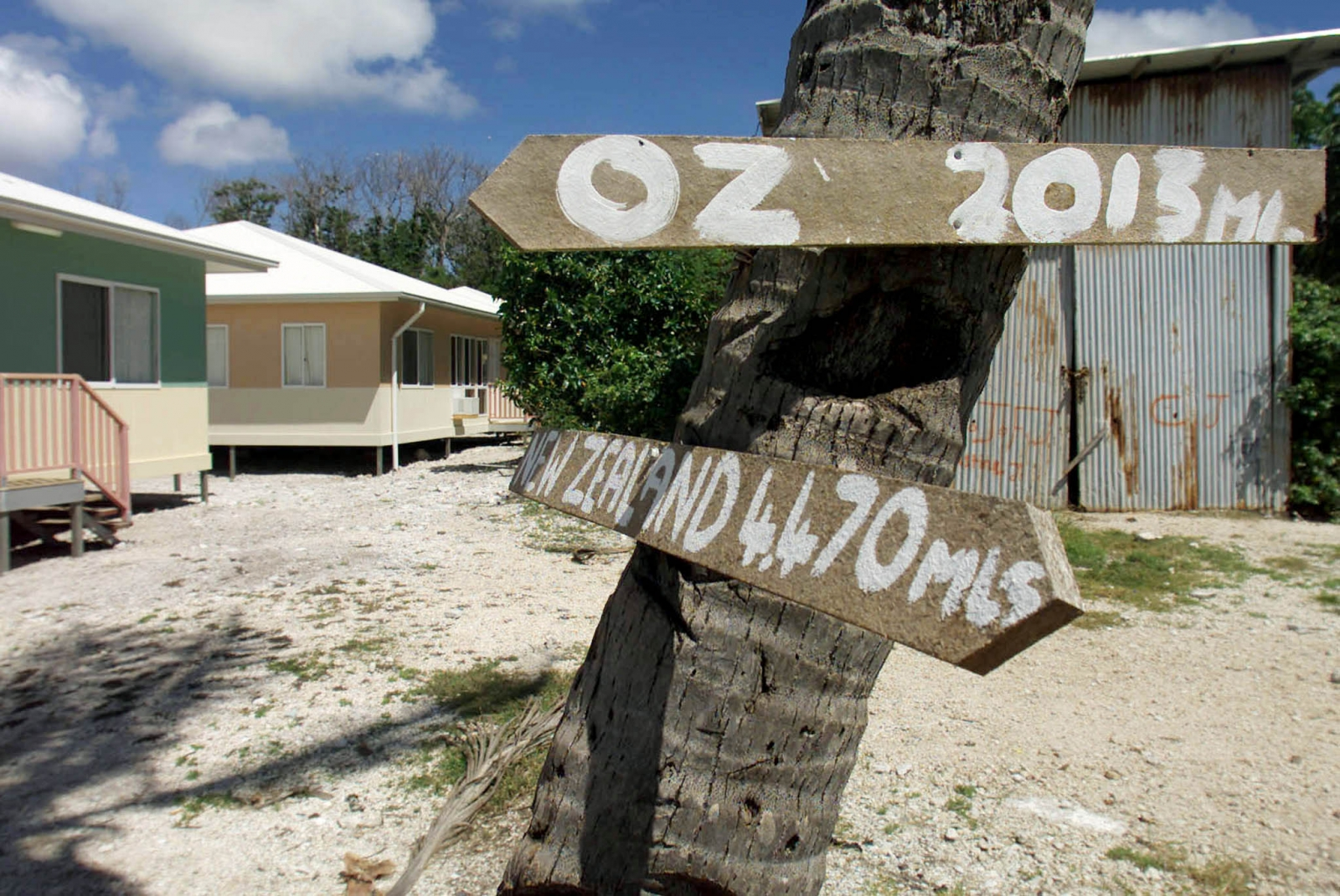 The Nauru Anaoe Village houses hundreds of asylum seekers, who will be relocated to Cambodia following the new agreement