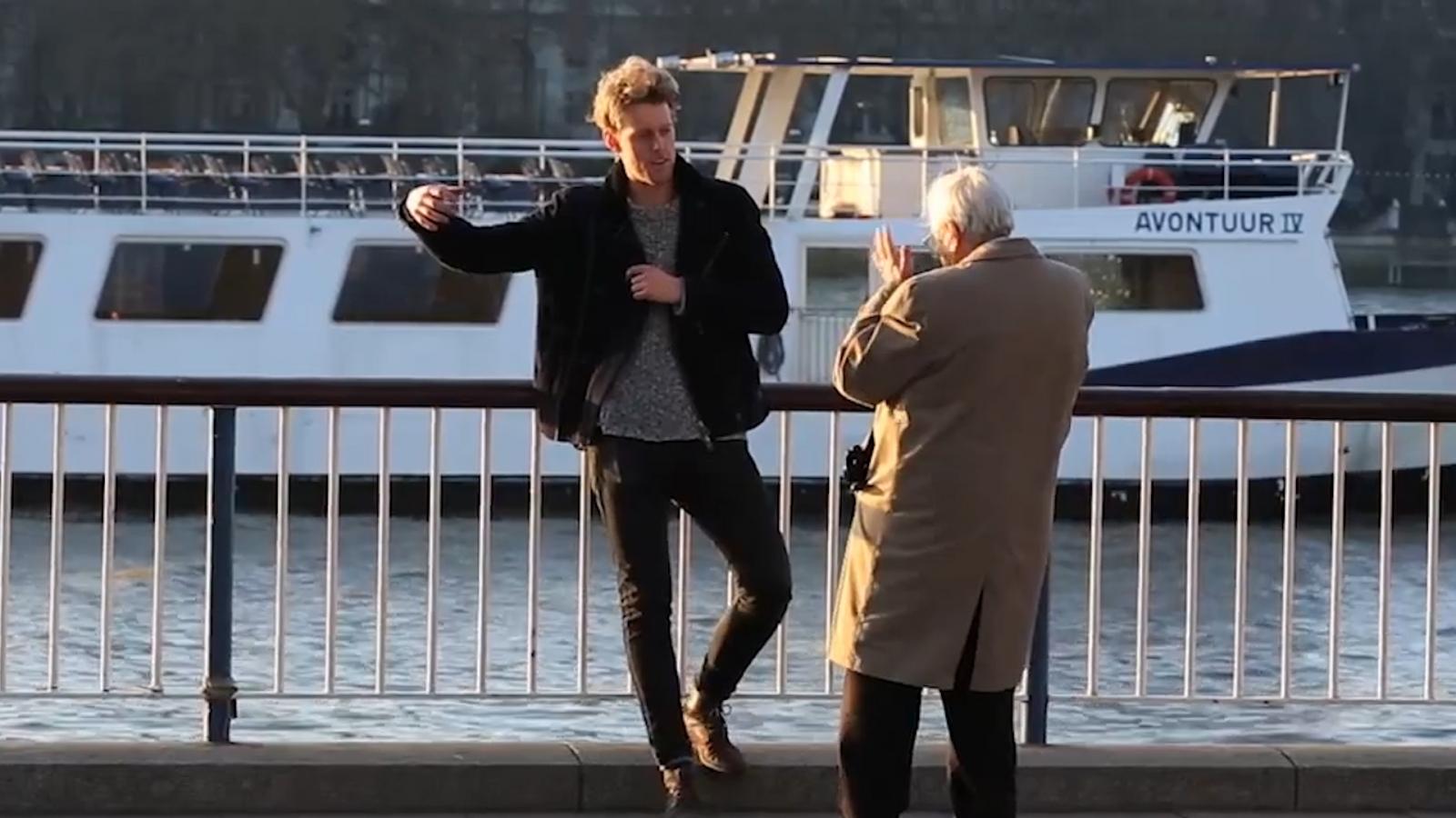 Imaginary friend prank shocks Londoners