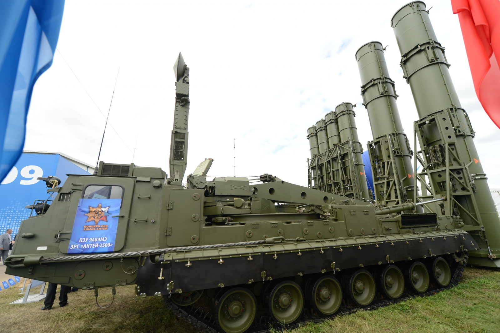 A 9A84ME launcher unit of the S-300VM 'Antey-2500'  anti-ballistic missile system. (KIRILL KUDRYAVTSEV/AFP/Getty Images)