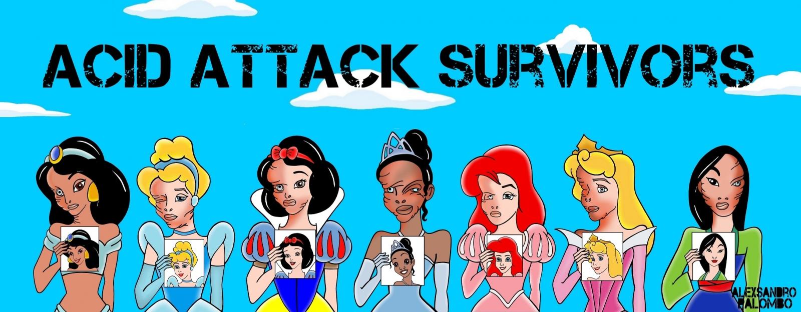 Acid attacks Disney princesses