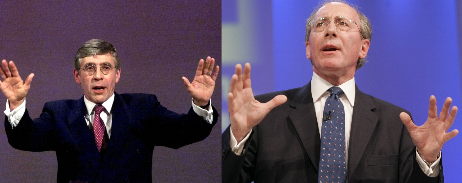 Labour's Jack Straw and Tory MP Sir Malcolm Rifkind