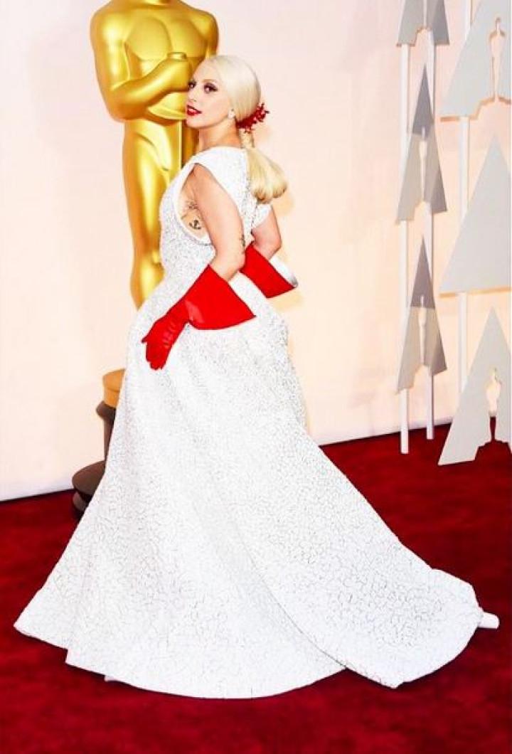 Lady Gaga at Oscars 2015