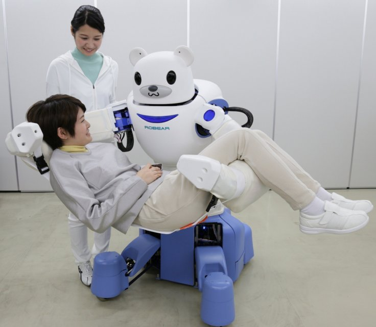 Robear, a new care support robot bear nurse that can lift patients up gently to transfer them between wheelchairs and beds