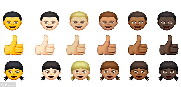 Apple's emojis featuring a range of skin tones has caused controversy over the vibrant yellow hue.