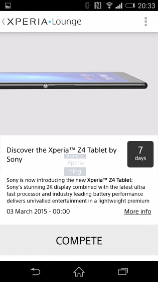 Sony Xperia Z4 tablet with 2K screen leaks ahead of MWC 2015