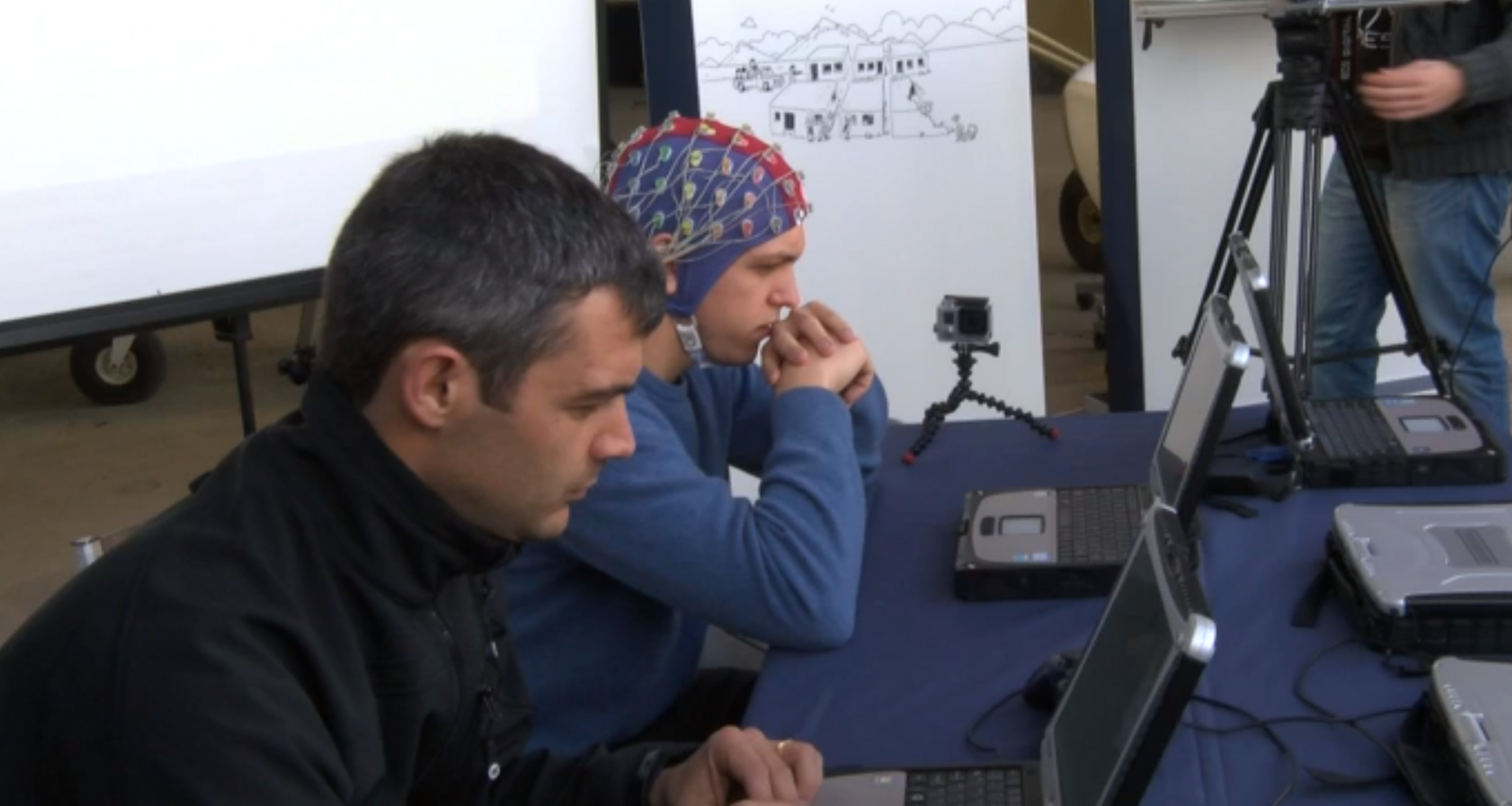 Brain-controlled drone shown off for the first time