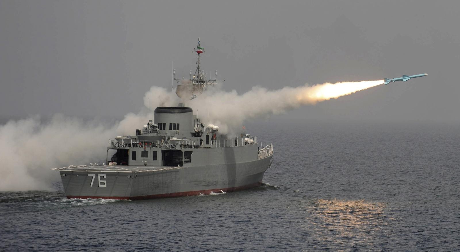 Iran massive naval drill