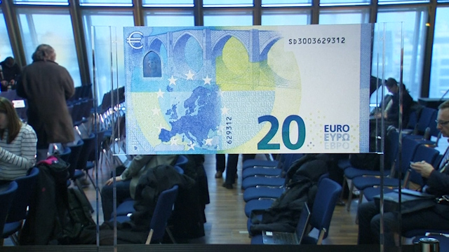 New look €20 note unveiled by ECB in Frankfurt