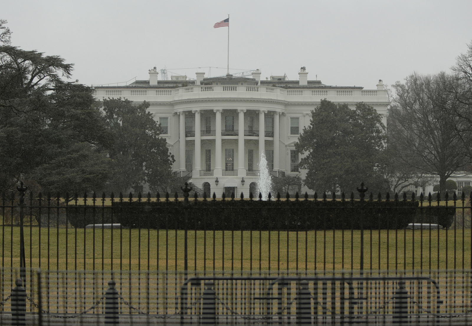 The south lawn of the White House where the helicopter drone crashed. The Secret Service has announced that it will conduct drone exercises in Washington DC