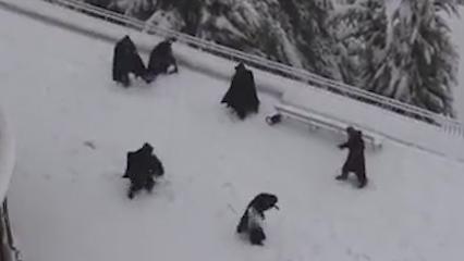 Franciscan friars' Jerusalem snowball fight video goes viral