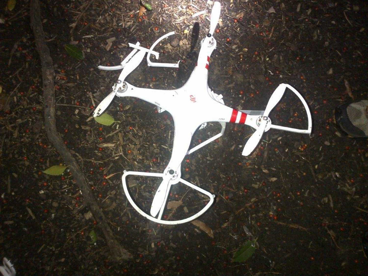 The DJI Phantom drone that crashed on the lawn of the White House. Its pilot was drunk at the time