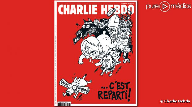 The latest cover of Charlie Hebdo includes the Pope, former French president Nicolas Sarkozy and National Front leader Marine Le Pen