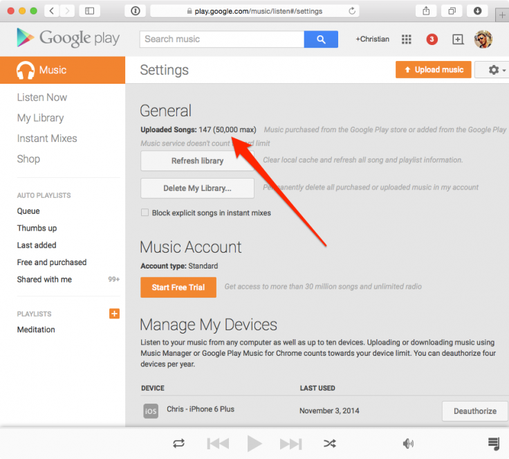 Google Play Music extends free cloud storage limit to 50,000