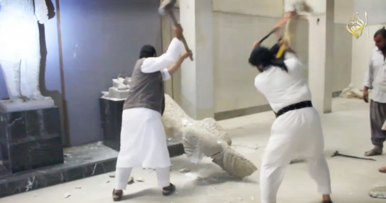 Isis destroys Mosul artifacts