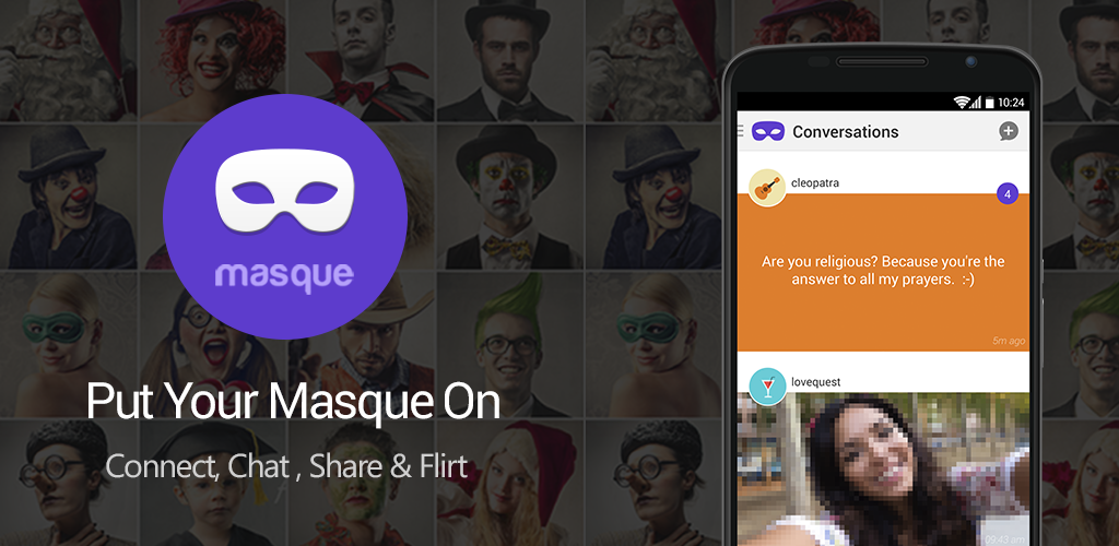 Anonymous dating app Masque