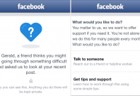 Facebook Suicide support and prevention