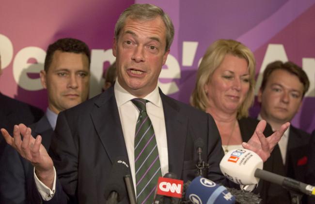 Nigel Farage UKIP eurosceptic London
