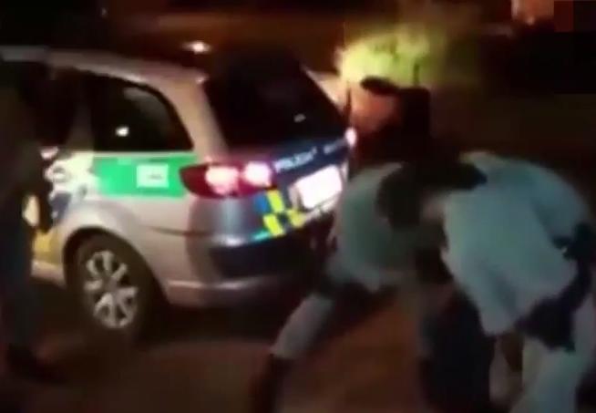 Policeman exorcism Brazil