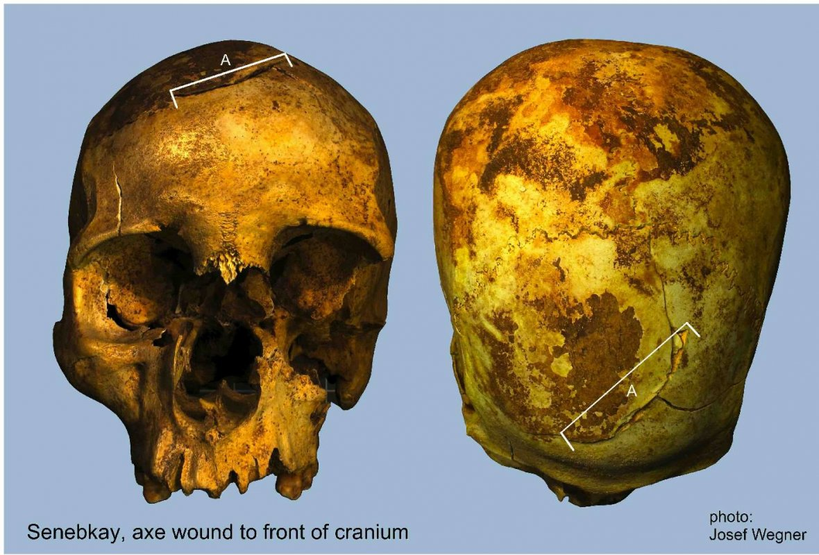 Pharaoh Senebkay skull