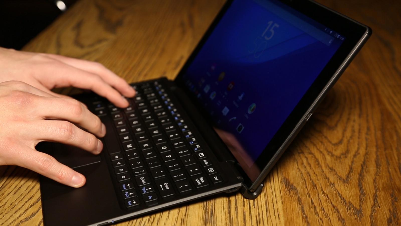 Sony Xperia Z4 Tablet keyboard
