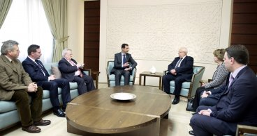 Syria's Assad meets French Delegation