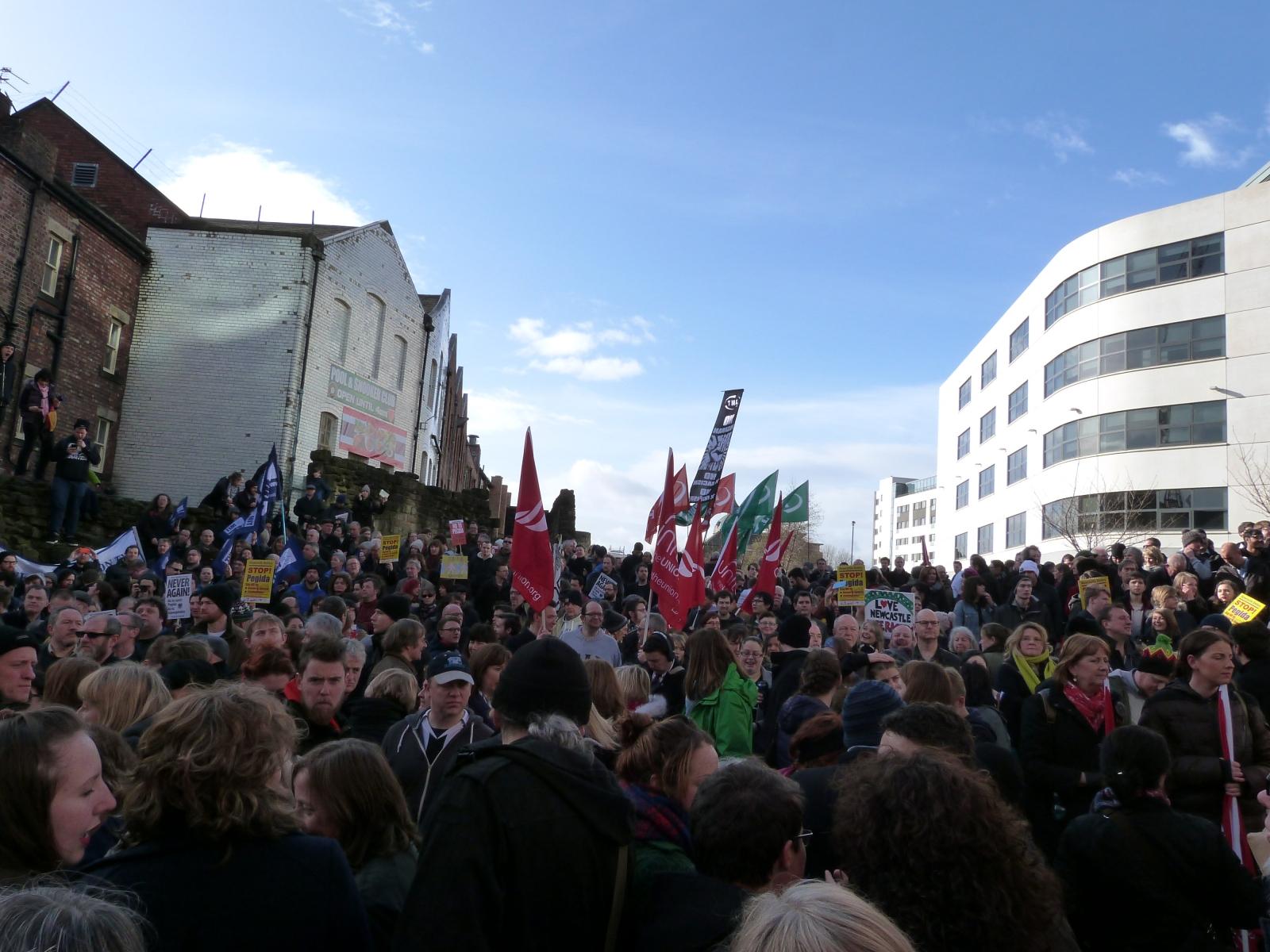 Newcastle Unites Pegida UK