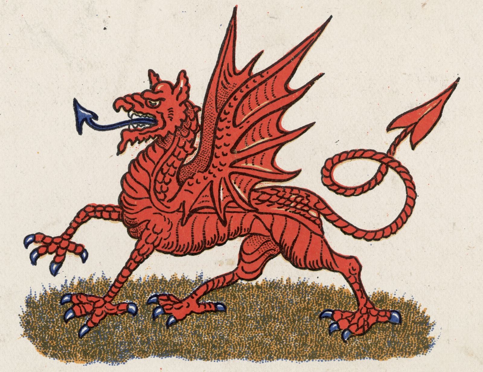 The red dragon: national emblem of Wales.