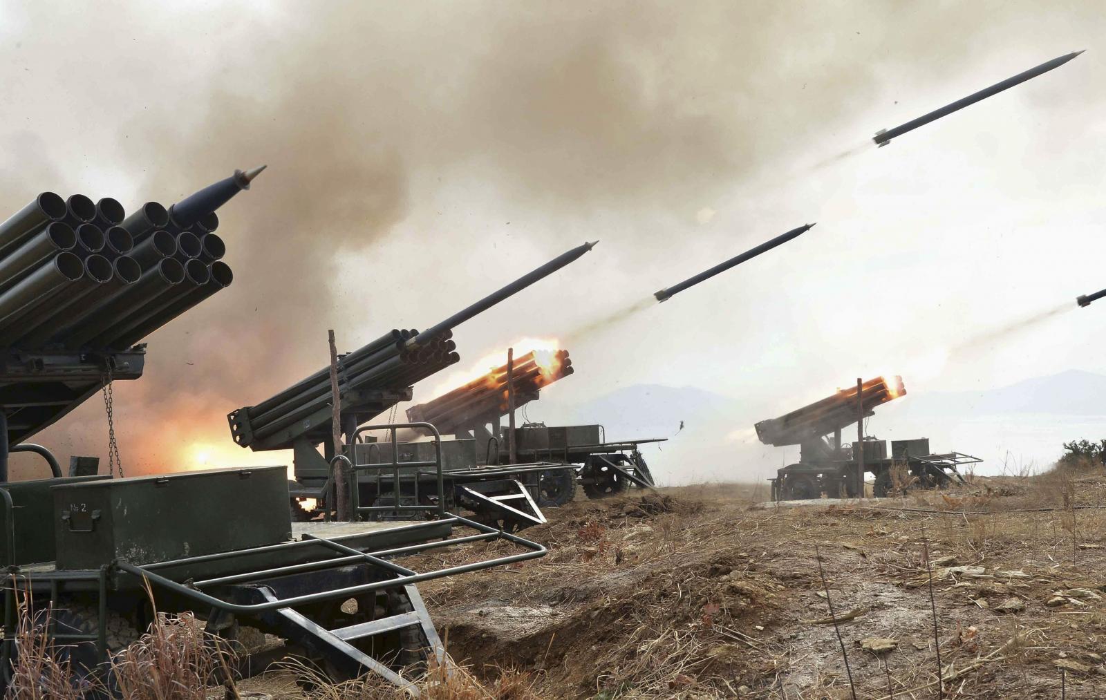 North Korea fires missiles